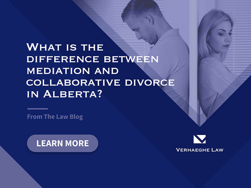 What is the difference between mediation and collaborative divorce in Alberta?