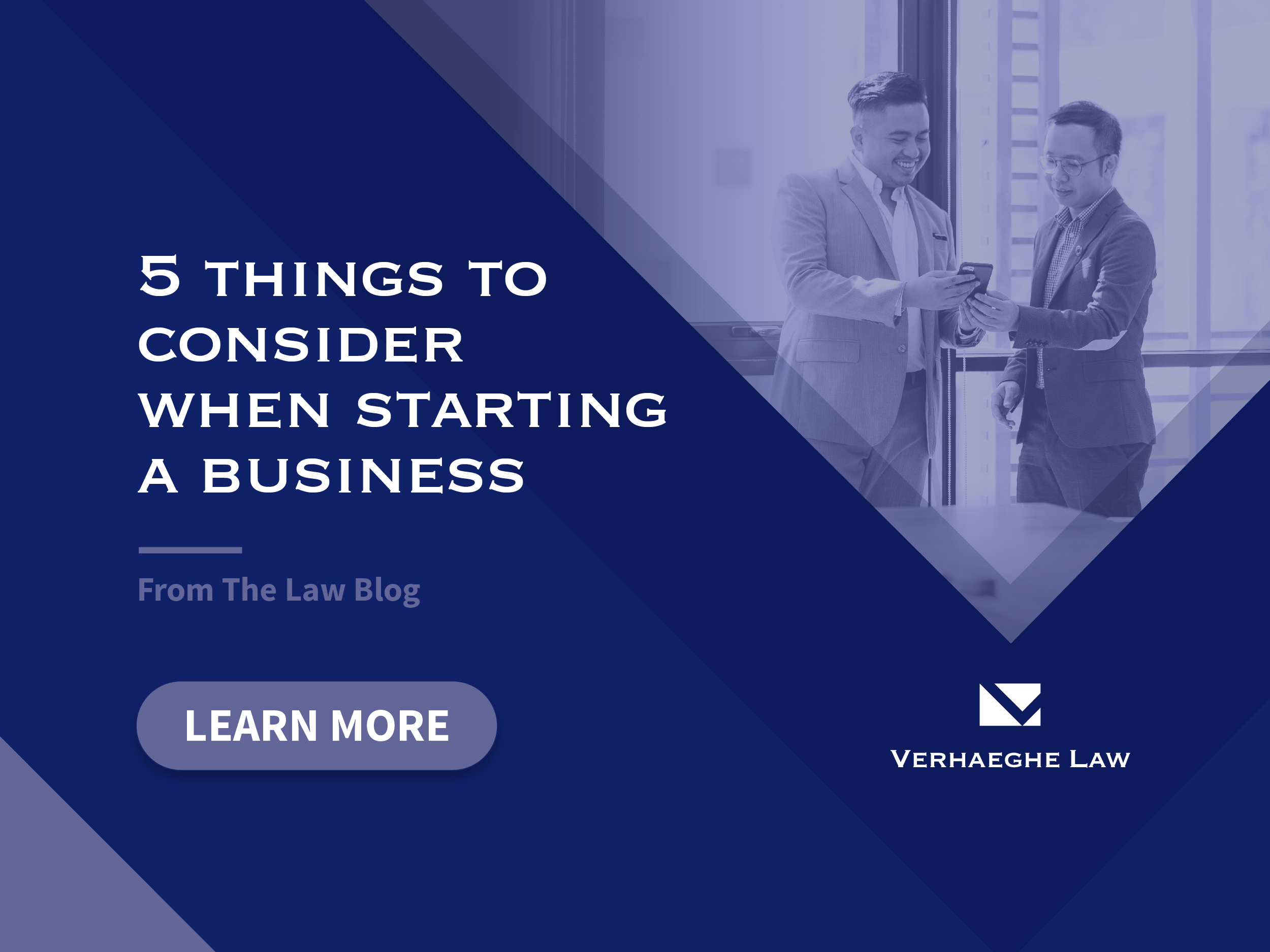 Five things to consider when starting a business